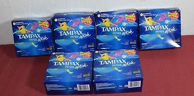 Tampax Pearl Active Plastic Tampons, Unscented, Duo Pack Reg/Lite, 36 ea, Lot X6