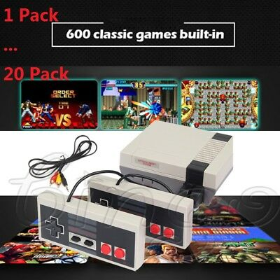 Mini Vintage Retro TV Game Console Classic 620 Built-in Games 2 Controllers Lot