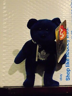 "2018 NEW NHL Toronto Maple Leafs  8"" Ty Beanie Baby Hockey Bear"