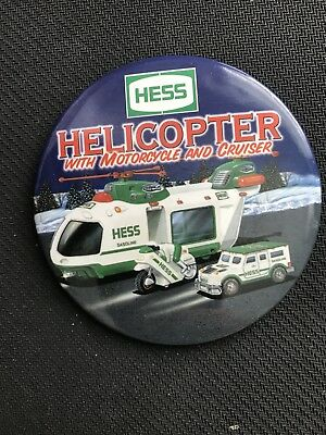 Hess Helicopter With Motorcycle Button