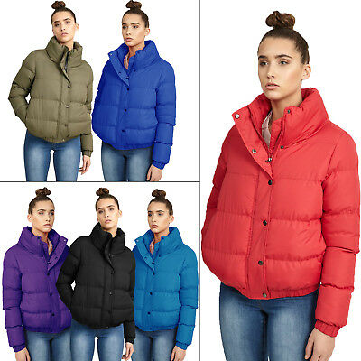 cabedf3cb BRAVE SOUL WOMENS Slay Puffer Padded Quilted Bomber Jacket Ladies Winter  Coat