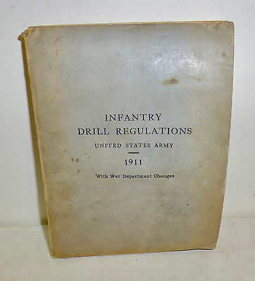 """""""Infantry Drill Regulations"""" 1911 United States Army booklet WWI"""
