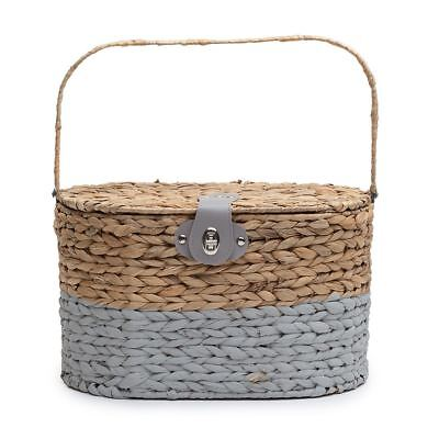 Seagrass Picnic Basket Home Storage Box Kitchen Decoration Home Decor