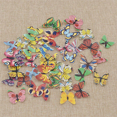 40 Pcs/Lot Edible Butterfly Cake Topper 3 Size Glutinous Rice Paper Butterfly
