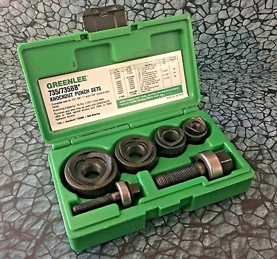 Greenlee Ball Bearing Knockout Punch Set 735BB tool industrial conduit 735 BB