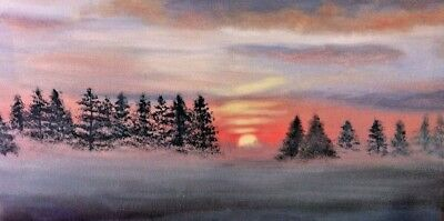 Morning on Prince Edward Island 12 x 24 oil painting on canvas FREE shipping