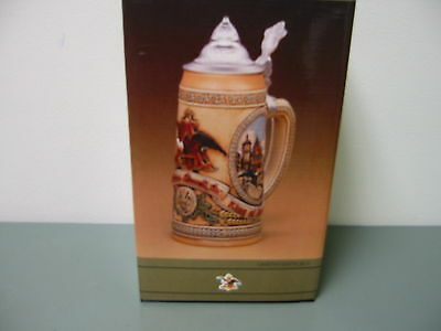 NOS Anheuser Busch Budweiser 1988 Limited Edition Lidded Stein V in Series