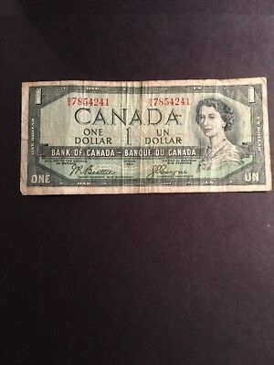 Bank Of Canada Devil's Head Banknote 1954 Pic66b
