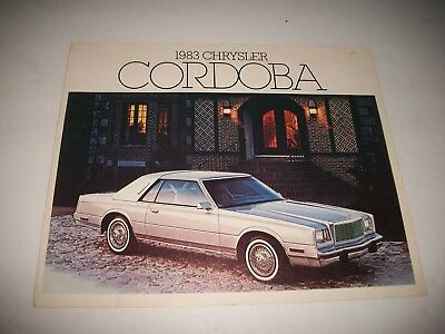 1983 Chrysler Cordoba Sales Brochure Canadian