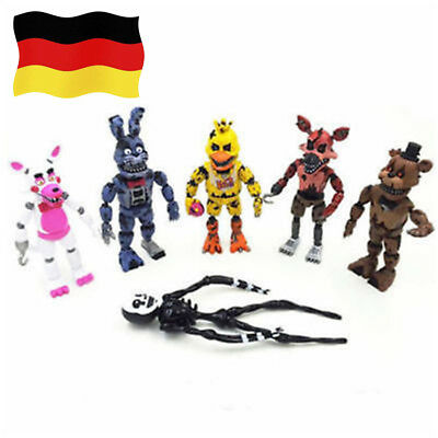 6pc Five Nights at Freddy's 2 Doll Charakter Aktion Spielzeug Geschenk Modell DE