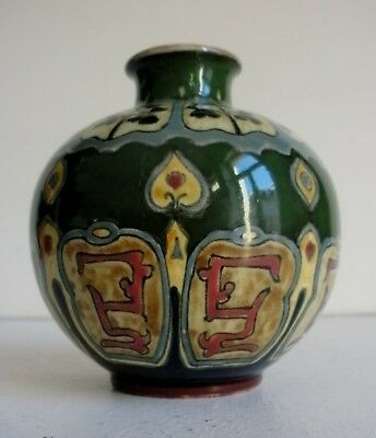 Seltene Jugendstil Vase Franz Anton Mehlem Royal Bonn Old Dutch