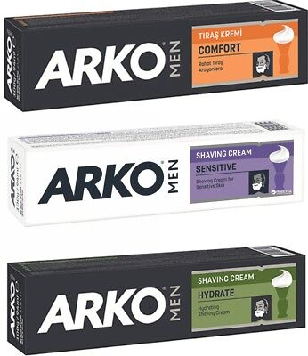 ARKO Men Shaving Cream Traditional Turkish Shave COMFORT,HYDRATE,SENSITIVE 100ML