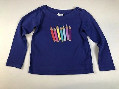 Mini Boden Shirt Applique Crayons Size 3 4 Girls LBFO