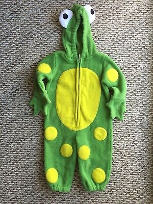 Old Navy Kid's Green & Yellow Frog Footless Long Sleeve Overall Size: 6-12months