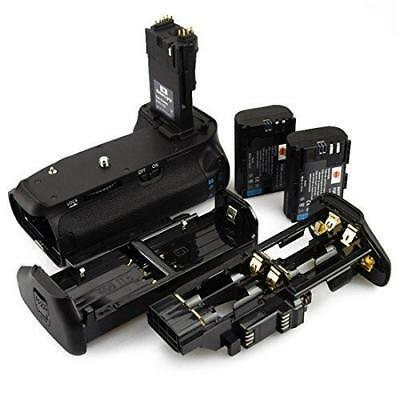 DSTE Pro BG-E14 Vertical Battery Grip + 2x LP-E6 LP-E6N for Canon EOS 70D 80D