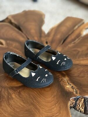 GYMBOREE Catastic Kitty Shoes Flats cat Toddler Girls Sz 7