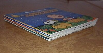 Lot of 4 Peanuts/Charlie Brown Read Along Book & Record 33 1/3 RPM