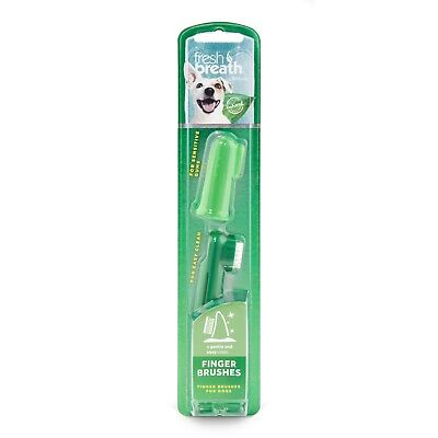 Tropiclean Fresh Breath Finger Brushes | Advanced Oral Care for Dogs