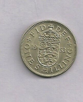1953 Great Britain  Unc Shilling  With Mint Luster
