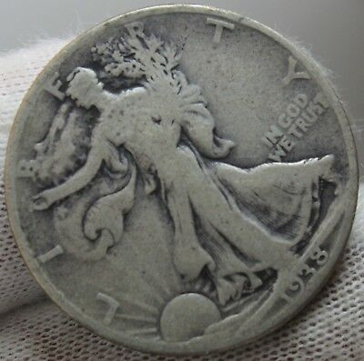 1938 D Walking Liberty Half Dollar Key Date Silver Coin