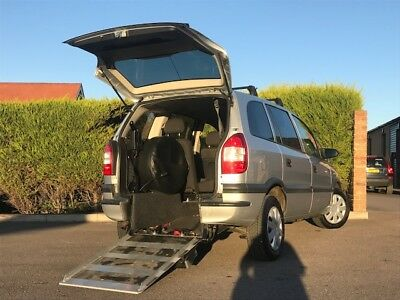 Vauxhall zafira WAV wheel chair adapted vehicle with winch , automatic gearbox