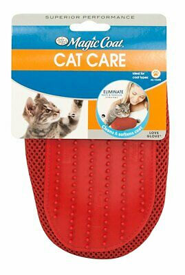 Four Paws Magic Coat Love Glove | Rubber Grooming Mitt for Cats | Gentle & Soft