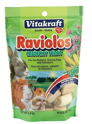 Vitakraft Small Animal Raviolos Healthy Crunchy Treats Delicious Snacks 5oz