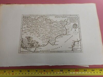 100% Original Kent Map By T Kitchin  C1786 Vgc Low Start