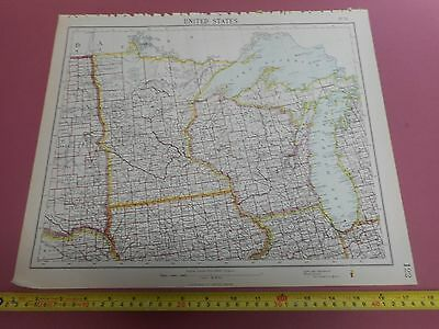 100% Original Minesota Wisconsin United States Map By Letts C1892 Vgc Sheet 11
