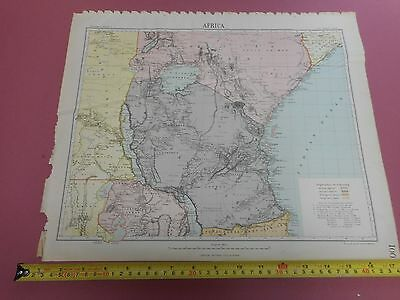 100% Original Africa Great Lakes Victoriamap By Letts C1892 Vgc Original Colour