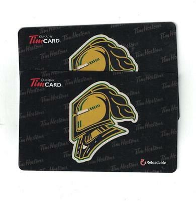 ( 2 ) Tim Hortons LONDON KNIGHTS OHL Gift Cards