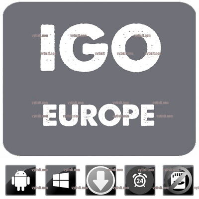 iGo Primo 9 GPS Navigation Mit Neu 2018 Europa Karte Zum Windows CE & Android