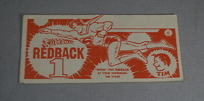 Original 1950's Superman / Tim Redback Paper Coupon - 1 (Inv. No. 001)