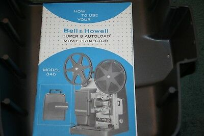 Vintage BELL & HOWELL Model 346 Autoload Super 8mm Projector