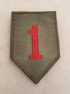 German Made 45/46 Bevo Weave Famous 1St Infantry Division Patch Brown Back
