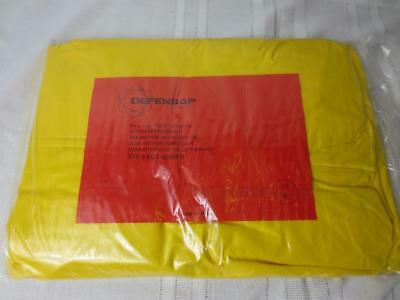 DEFENSAP Anti-C~ 1 piece PVC Protective Coverall~ Lrg~ Chemical Nuclear