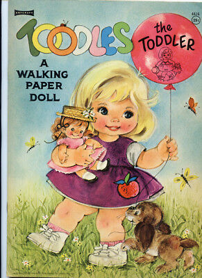 Vintage Paper Dolls: Toodles the Toddler Walking Paper Doll 1966 Uncut Original