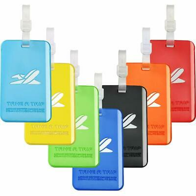 Silicone Bright Color Flexible Travel Luggage Tag Suitcase Label - 7 Colors