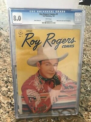 Roy Rogers Comics #1 CGC 8.0 White pages!!!!