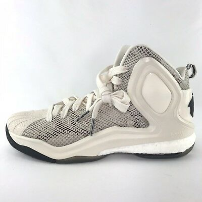 competitive price 00734 9f7a3 Adidas Men s D Rose 5 Boost Og White Basketball Shoes C77249 Size 11