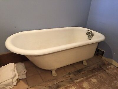 "Antique Claw Foot Cast Iron Bath Tub - 60"" (Pick-up Only!)"