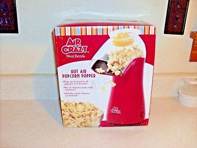 WEST Bend 4 Quart Crazy Hot Air Popcorn Popper[DISCONTINUED BY MANUFACTURE]82416