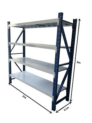 NEW 2m*2m*0.5m Garage Warehouse Steel Storage Shelving Shelf Shelves Racking