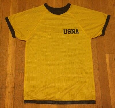 Vintage USNA US Naval Academy Reversible Blue & Yellow Jersey, T Shirt. Size S