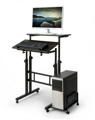 Mobile Portable Laptop Table Computer Office Stand Height Adjustable Work Desk