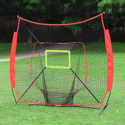 Portable Softball Baseball Training Practice Net for Pitching and Hitting 7x7ft