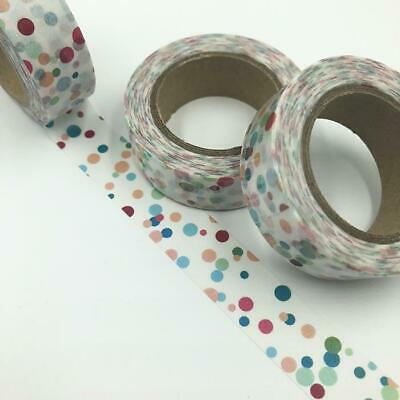 WASHI TAPE 15mm x 10m - Confetti