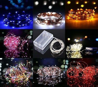 20/30/100 LED Battery Micro Rice Copper Wire Xmas Fairy String Lights Party UK