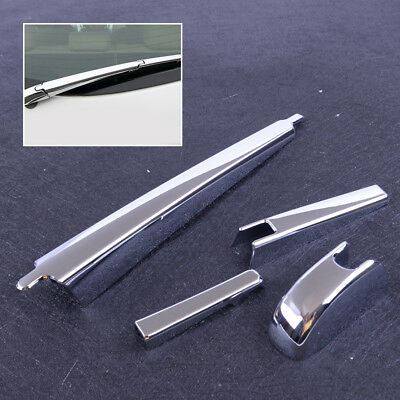 4pcs ABS Chrome Rear Windscreen Rain Wiper Cover Trim For Jeep Cherokee KL 2014+