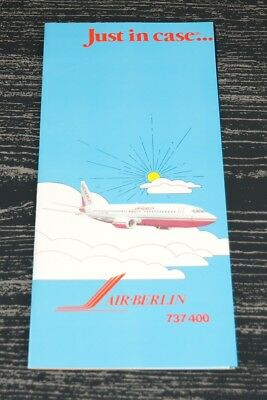 Safety Card Air Berlin B737-400 Just In Case